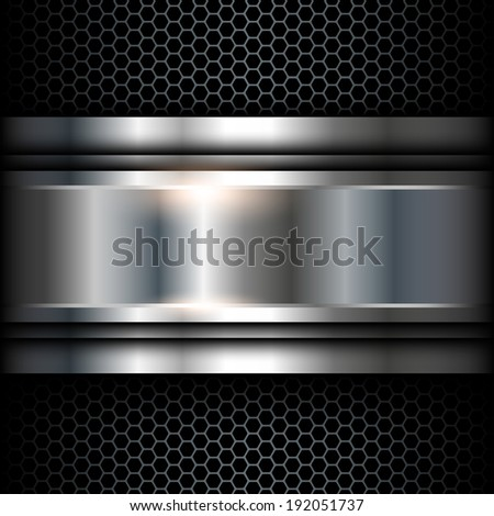 Abstract background metallic, vector shiny illustration.