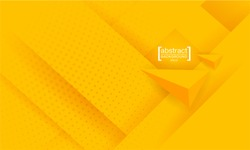 Abstract background modern hipster futuristic graphic. Yellow background with texture. Vector illustration.