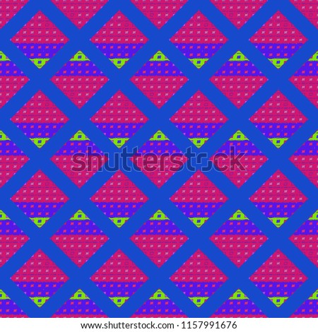 Abstract background multicolor geometric grid seamless cube.