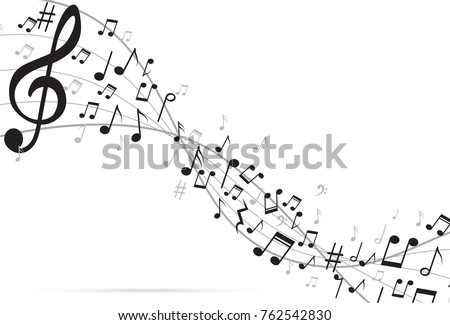 Abstract Background Music notes. Vector Illustration