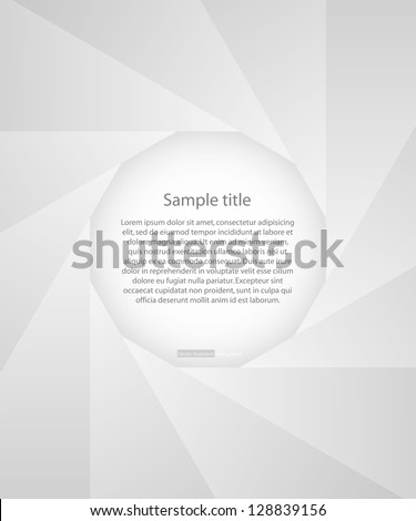 abstract background of black photo diaphragm open over white.with free space in the middle for sample text. vector.