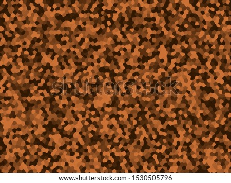 Abstract background of brown and orange polygons. Mosaic of polygons.
