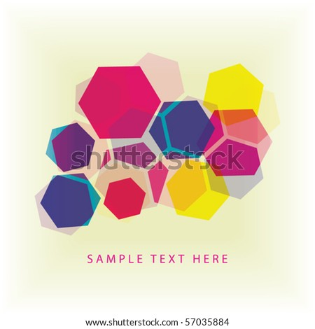 Abstract background of colored hexagons