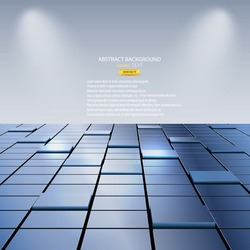 abstract background of cubes. Vector