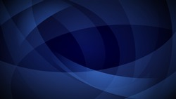 Abstract background of curved lines in dark blue colors