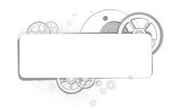 Abstract background of gears monochrome