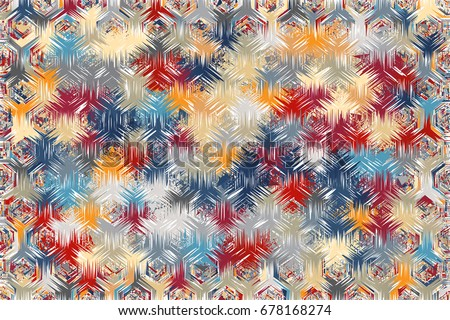 Abstract background of geometric shapes. Geometric mosaic