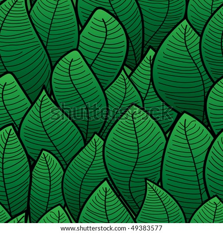 Abstract background of green leaf. Seamless pattern. Vector illustration.