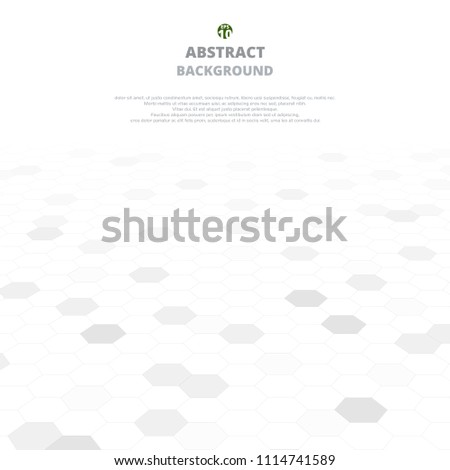 Abstract background of grey shapes in pentagons. White and grey texture. Illustration vector eps10 #1114741589