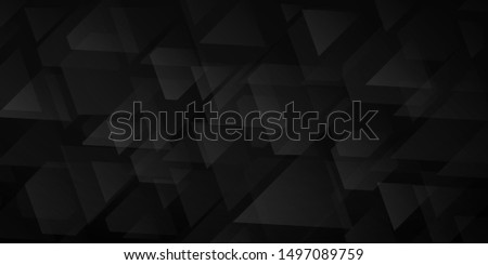 Abstract background of intersecting triangles and polygons in black colors