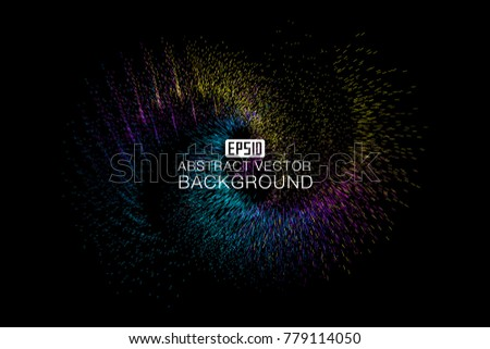 Abstract background of luminescent particles #779114050