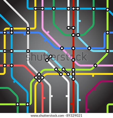 Abstract background of metro scheme