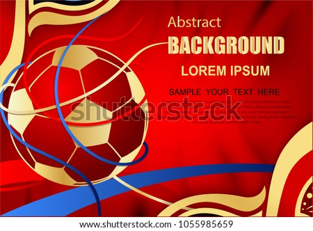 Abstract Background of Soccer sport design, Football world cup competition pattern, shapes, lines pattern, soccer ball, goal tournament award icons, vector international championship 2018
