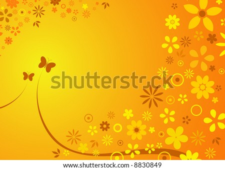 abstract background of spring / summer flowers
