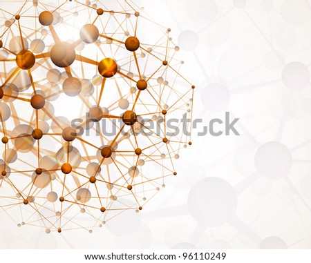 Abstract background of the molecular structure. Eps 10