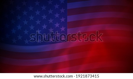 Abstract background of wavy American flag - vector illustration Stock photo ©