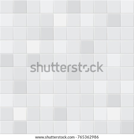 Abstract background or seamless pattern of tiles in white and gray colors