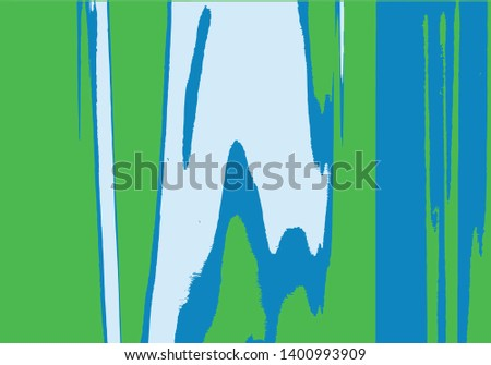 Abstract background or texture. Interference, glitch effect, liquid effect. Colorfull, blue and green