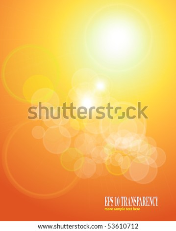 abstract background orange sepia lights. eps10 vector