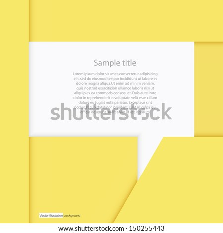 abstract background origami yellow paper align for free space in the middle for sample text. vector