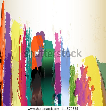 abstract background, paint strokes