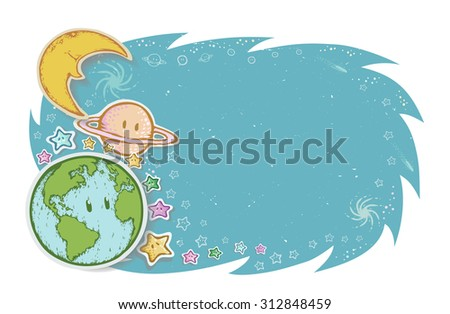 abstract background planet