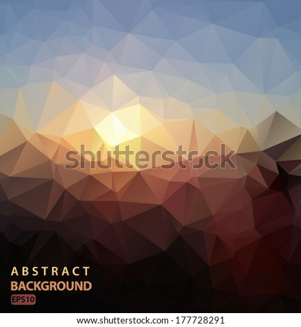 Abstract background polygonal Night the constellation Vector EPS 10 illustration