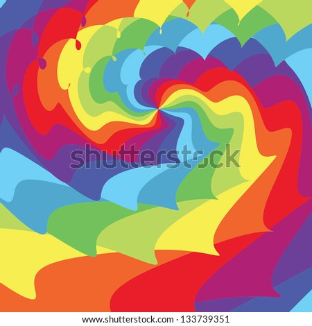 Abstract background. Psychedelic rainbow. Vector illustration EPS10