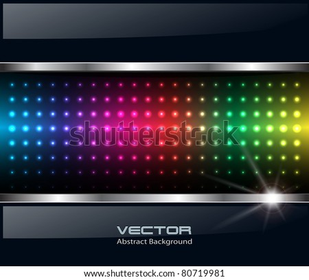 Abstract background, rainbow dots, vector. - stock vector
