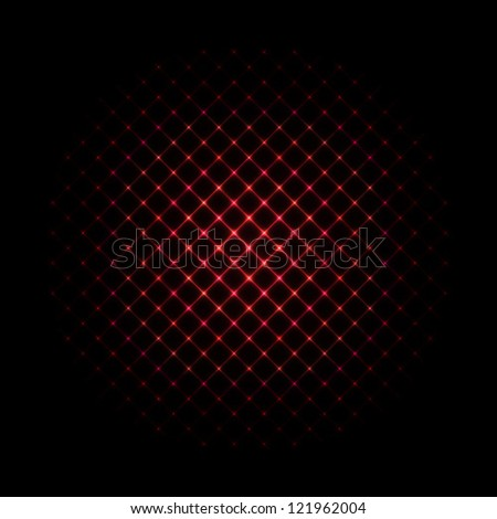 Abstract Background - Red Glowing Sphere