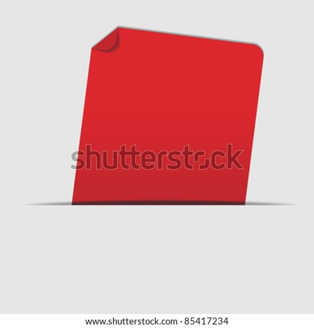 Abstract Background - Red Label on Light Grey Background