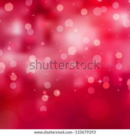 Abstract background, red magic lights, bokeh. EPS 8 vector file included
