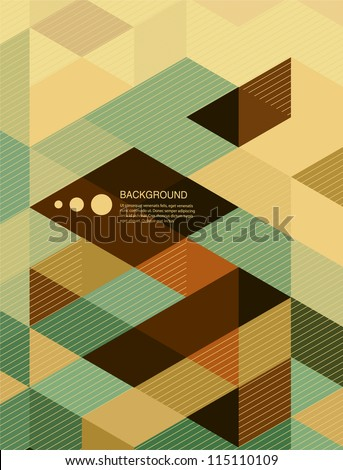 Abstract  Background / retro mosaic brochure or banner