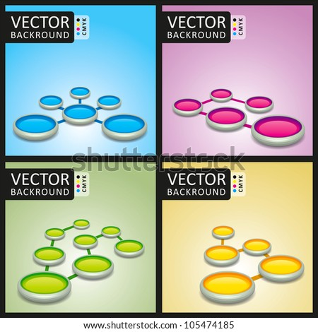 Abstract Background Round Stands Collection Set