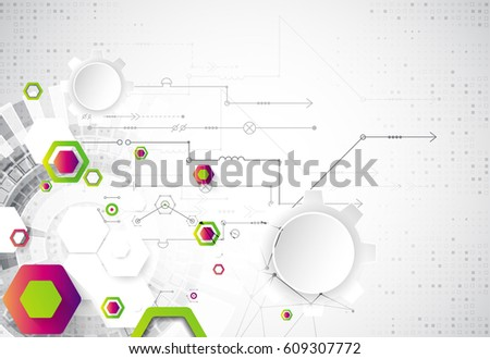 Abstract background. Science template, wallpaper or banner. Vector illustration. #609307772