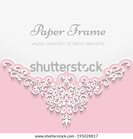 Abstract background scrapbook greeting card invitation vector decoration with paper swirls eps10
