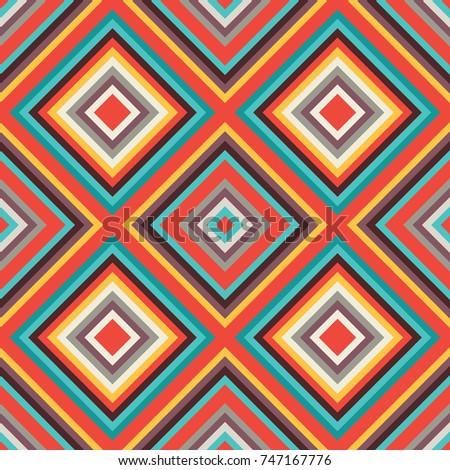 Abstract background - seamless vector pattern. Ethnic carpet illustration. Boho fashion design style