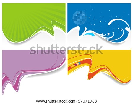 Abstract background set with space of your text. Vector Illustration