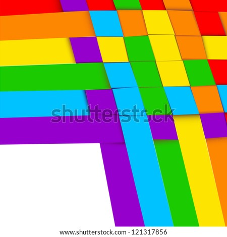 Abstract background simulating plexus colored paper strips