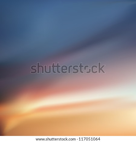 Abstract background. Sunset, dawn sky with colorful clouds. Eps 8 vector file.