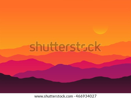 abstract background sunset