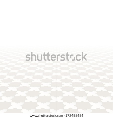 Abstract background. Tiled floor with a perspective. Vector illustration. #172485686