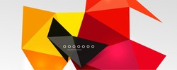 Abstract background - trendy low poly triangle shapes polygonal pattern, geometric dynamic composition with copyspace. Vector Illustration For Wallpaper, Banner, Background, Card, Book Illustration