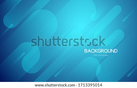 Abstract background vector illustration. Gradient blue with dynamic geometric shapes composition.