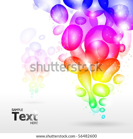 Abstract background, vector rainbow illustration.