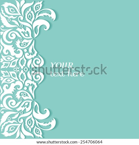 Abstract background wedding invitation or greeting card design with floral pattern beautiful luxury postcard ornate page cover ornamental vector illustration