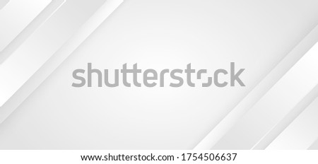 Abstract background white and gray diagonal stripes lines. 3D cover of business presentation banner web. Vector illustration Сток-фото ©