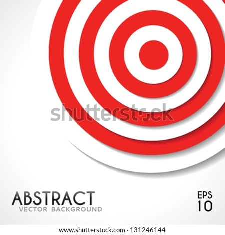 Abstract background white and red target template for design