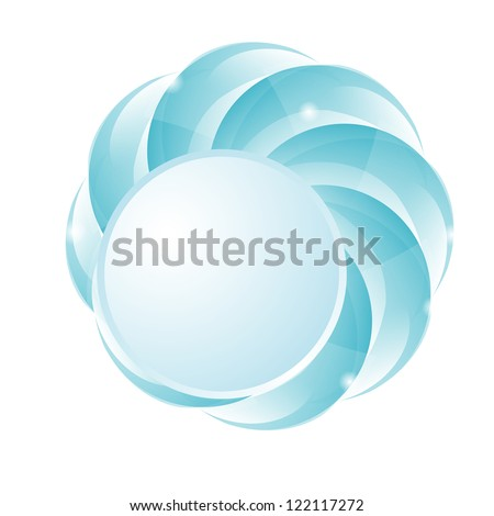 abstract background with a button
