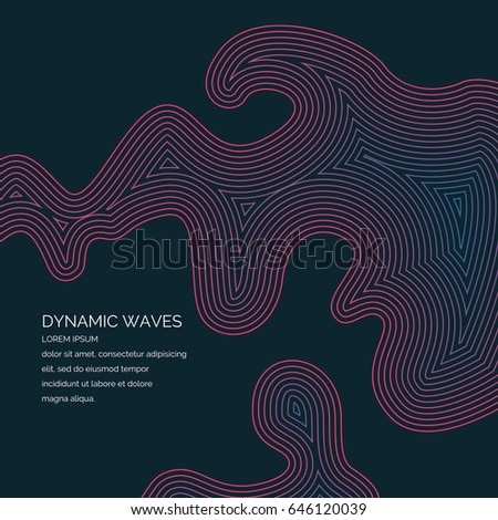 Abstract background with a dynamic waves. Vector illustration.